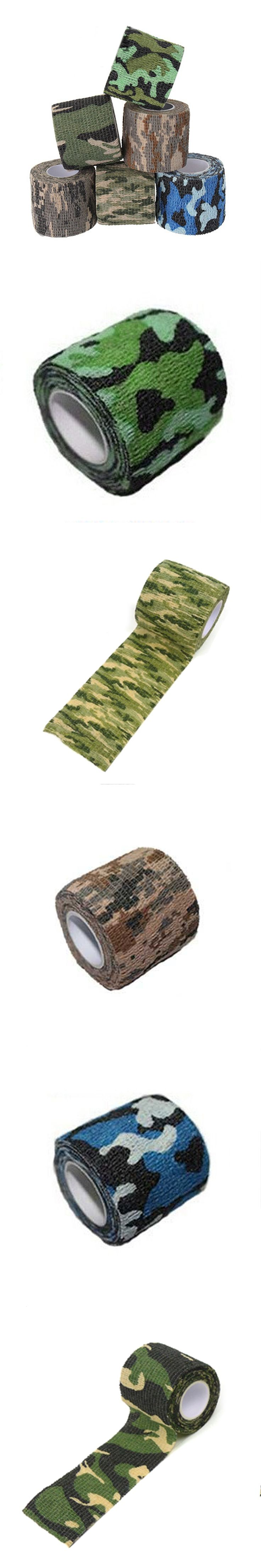 Camouflage Tape 1 Roll 5CMX4.5M Camo Stretch Bandage,Camping Hunting for Gun,Cloths Hot,Outdoor Military Camo Tape