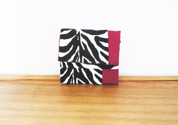 Black and White Zebra Print Cloth Trifold by Singsthesparrow, $12.00