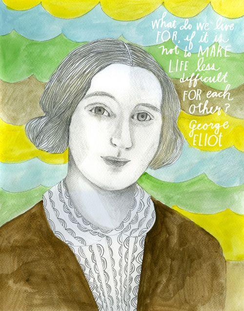 Portrait of George Eliot (1819-1880) - Lisa Congdon