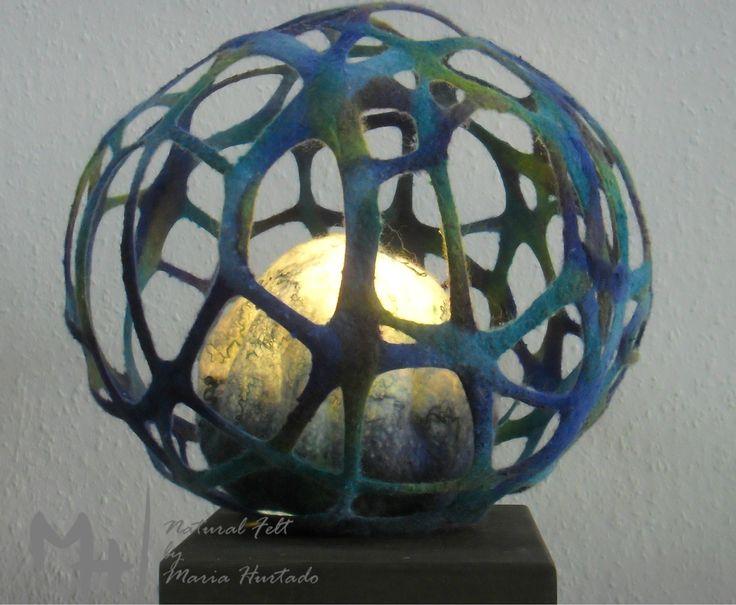 Felt light art by Maria Hurtado