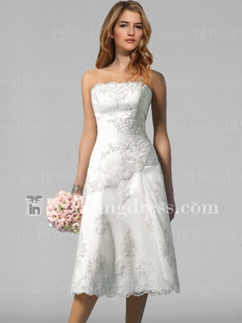 Informal Short Wedding Dress With Lace Bc001 Beach