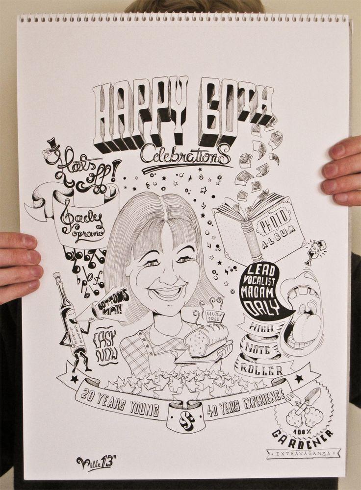 60th Birthday illustration by VKorpela, via deviantART