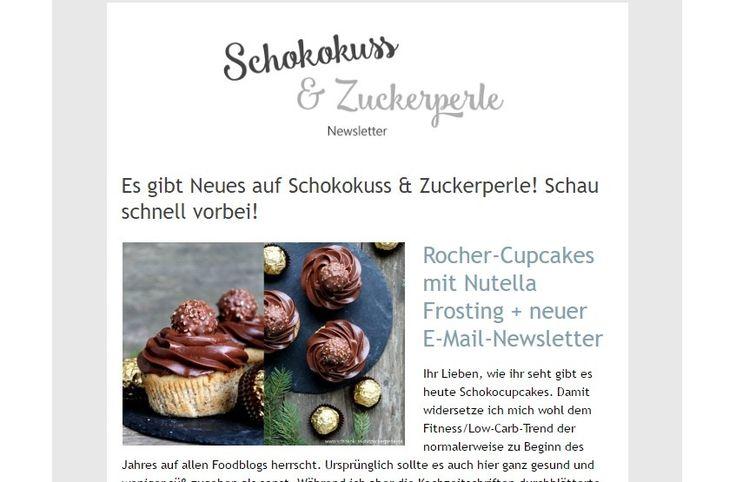 Schokoladiges Rezept für Rocher-Cupcakes mit Haselnussteig und Nutella-Frosting. Zur Krönung gibt es noch eine Rocher-Kugel auf die Spitze.