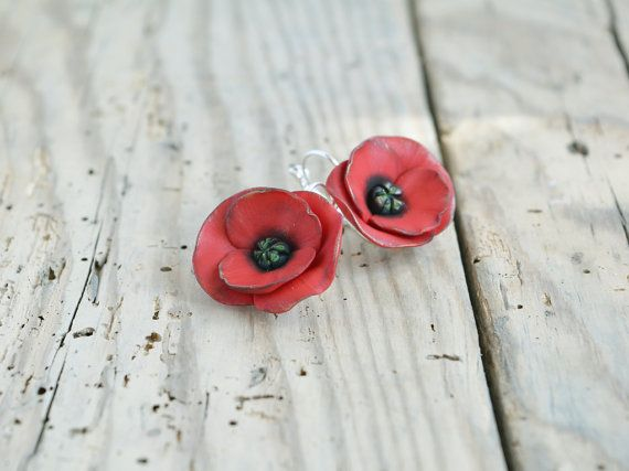 Hey, I found this really awesome Etsy listing at https://www.etsy.com/uk/listing/220782911/red-poppy-earrings-poppy-jewelry-dangle