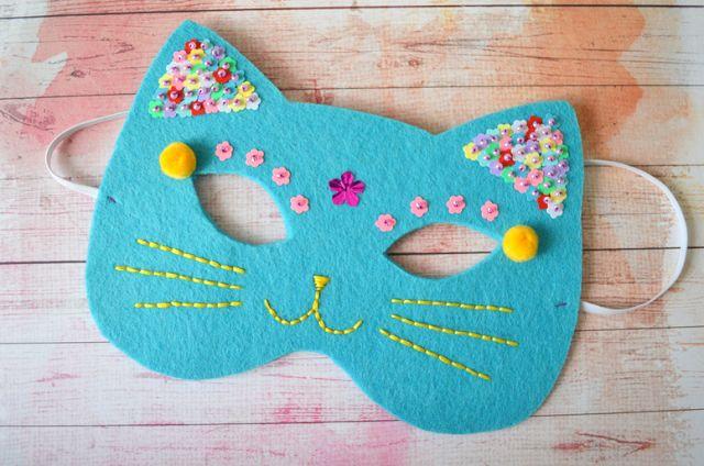 DIY - Le masque chaton en feutrine | Blog Rennes - le heaume de la mort - DIY création