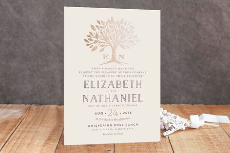 Enchanted Foil-Pressed Wedding Invitations by Griffinbell Paper Co. at minted.com