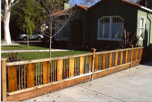 44 best fanciful fences images on pinterest fences for Craftsman style fence