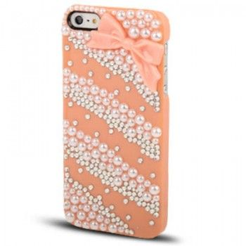 iPhone 5/5S Cases : 3D Crystal Encrusted Case for iPhone 5 - Red
