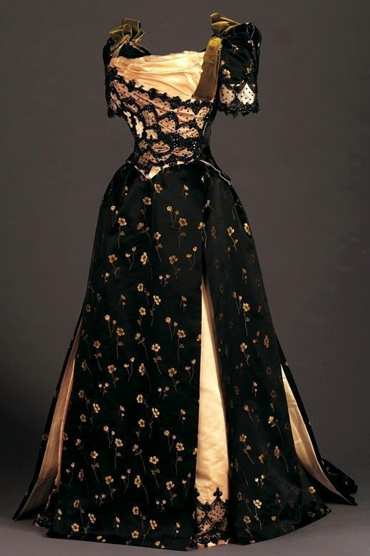 Late Victorian Reception Dress 1890                                                                                                                                                      More