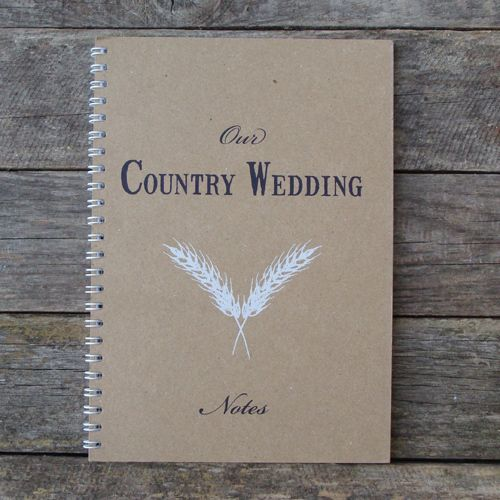 Our Country Wedding Notebook £4.50 by A Farmer's Daughter on Folksy.com
