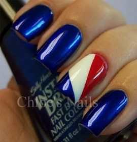 Red, White & Blue Nails for the 4th of July!   nails and all that goo ...