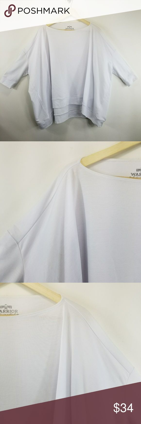 Warrior by Danica Patrick Terry Batwing Tunic Top Warrior by Danica Patric Batwing Terry Tunic Top Blouse TRW True White PO# 33JCF7014 337TF150 86% Polyester 7% Spandex 7% Rayon Warrior by Danica Patrick Tops Tunics