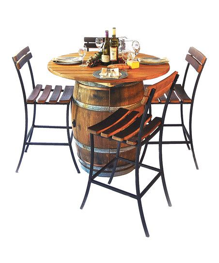 Round Top Barrel Table Set