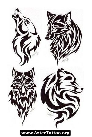 Aztec Wolf Tattoo 07 - http://aztectattoo.org/aztec-wolf-tattoo-07/