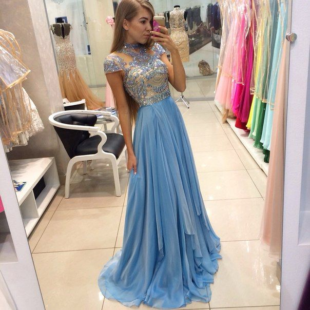 Summer formal dress with sleeves