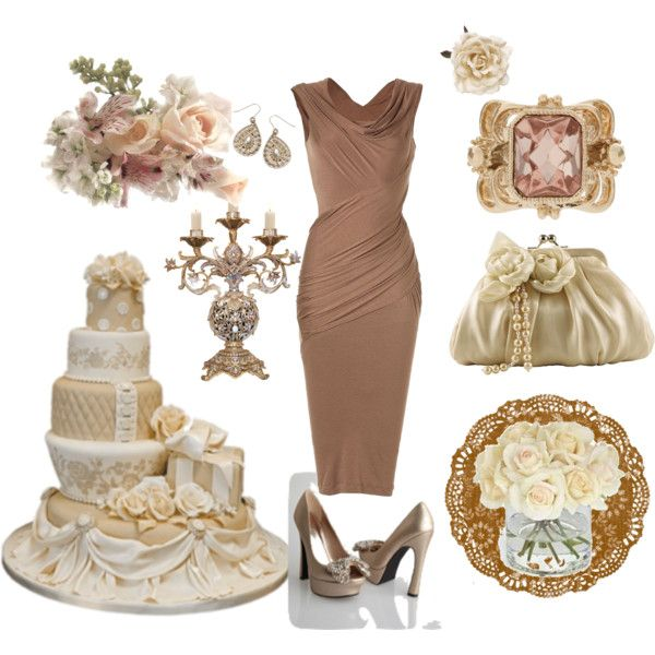 Ivory Latte Wedding Bridesmaid, created by tweeterj on Polyvore; vintage, antique