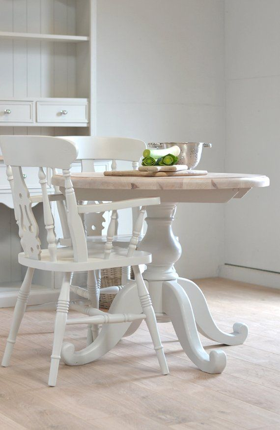 Small Round Kitchen Table Dining Table Two Seater Table Shabby Chic Country Pine Table Small Round Kitchen Table Round Kitchen Table Round Table And Chairs