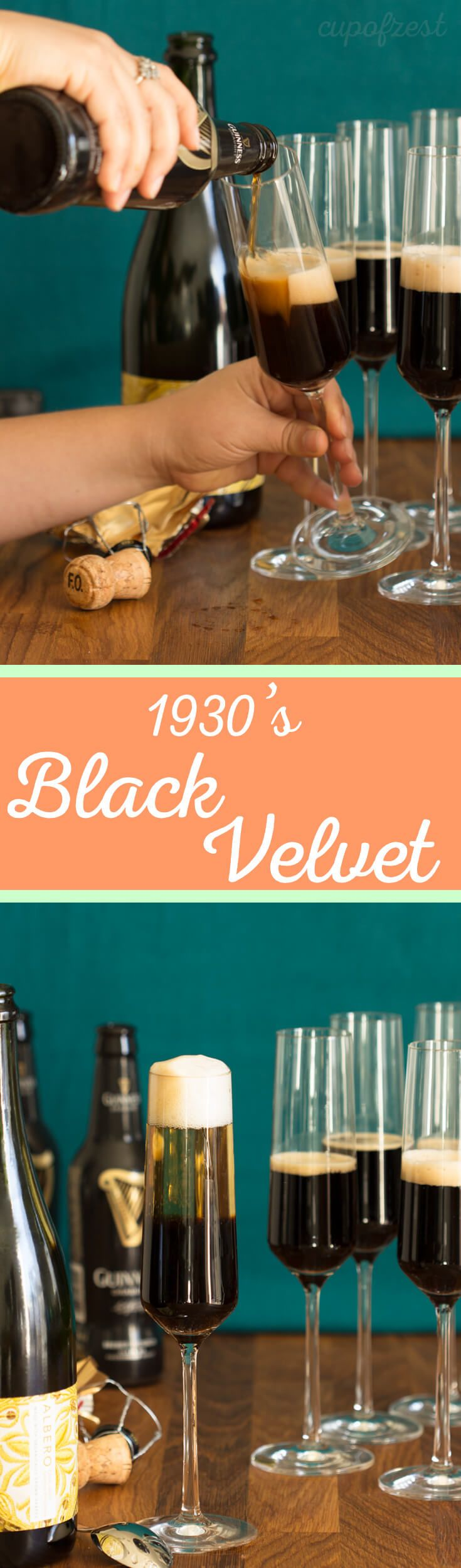 This Black Velvet is a rich, bubbly and fun (but definitely not new) vintage cocktail that would make a great addition to brunch.