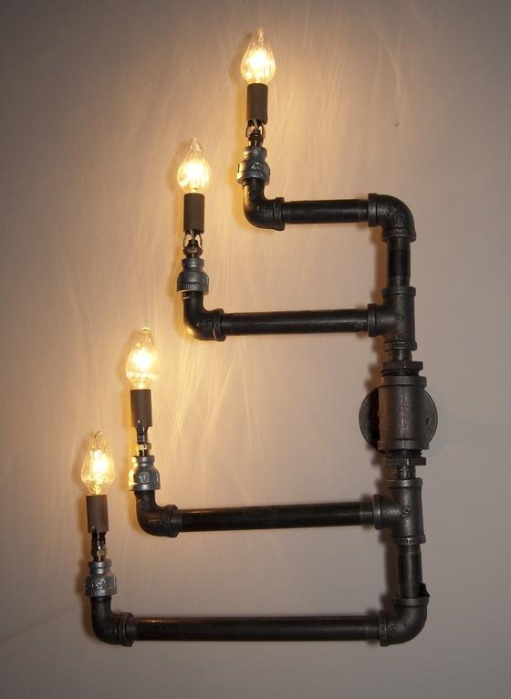 60 besten temperguss lampe bilder auf pinterest industrierohr beleuchtung und rohre. Black Bedroom Furniture Sets. Home Design Ideas