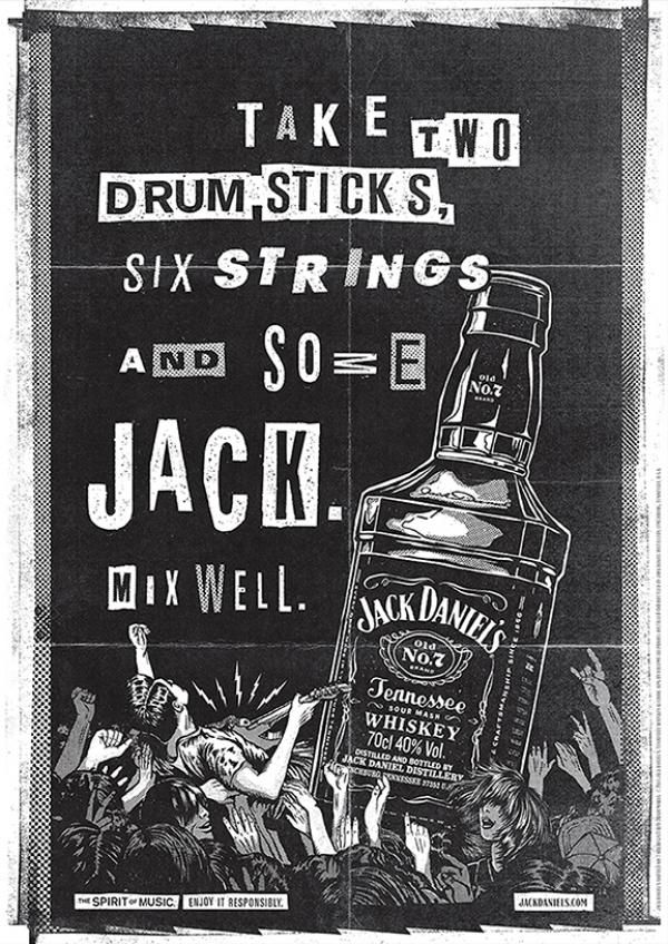 Jack Daniels Whisky the Spirit of Music