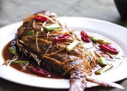 Pan-Fried Snapper with Aromatic Soy Sauce Recipe