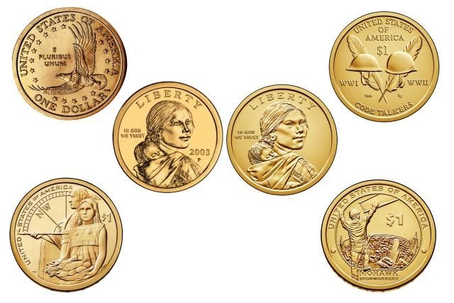 Find out how much your Sacagawea & Native American One Dollar Coins are worth. This page has coin values and prices for these one dollar coins.