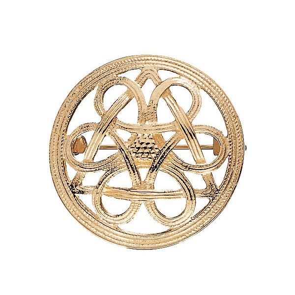 KNOT OF FATE BROOCH by Finnish jewelry company Kalevala Koru. Originals ancient Finnish jewelry from Bronze or Iron Age. material: 14 carat gold or bronze or silver