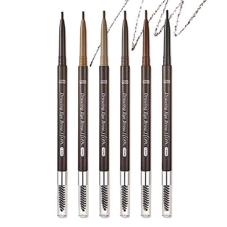 ETUDE HOUSE Drawing Slim Eyebrow 1.5mm 6 Color 0.05g (Weight : 12g)