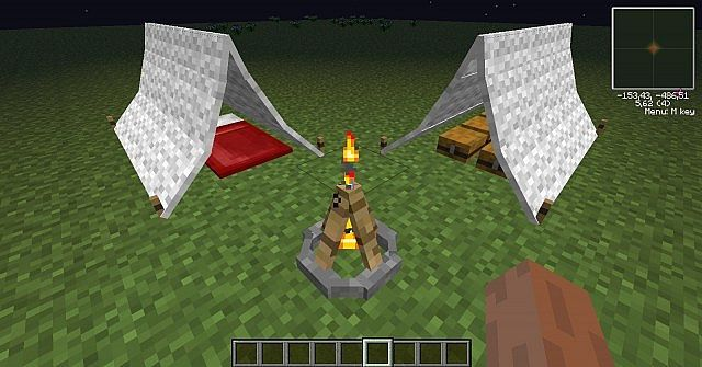 The Camping Mod Minecraft 1.5.2 / 1.5.1. if you go on skydaz.com, it has 1.6.4. this mod works really well!