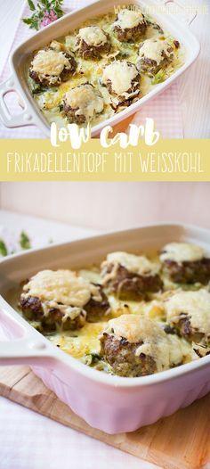 Schnelles Abendessen: Frikadellentopf mit Weißkohl www.lowcarbkoestlichkeiten.de
