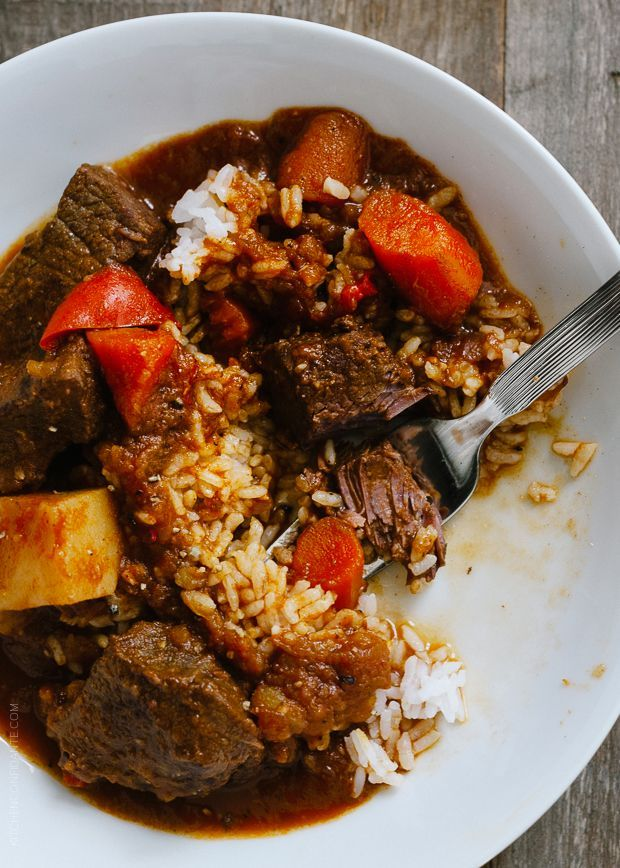 Mechado - Filipino Beef Stew | www.kitchenconfidante.com | When you're craving stick to your ribs comfort food, make this Filipino stew.