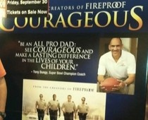 Courageous:  Honor Begins at Home     Executive Producers: Michael Catt, Jim McBride   Director/co-writer:  Alex Kendrick    Release in theaters:  September 30, 2011