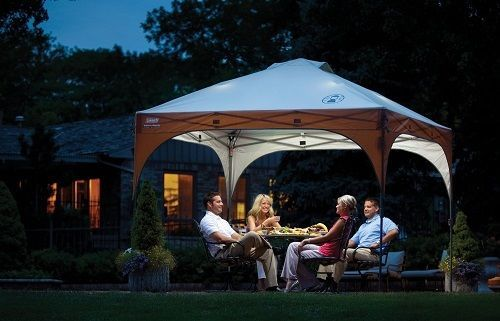 Coleman Instant Shelter Canopy  LED Lighting System 10' x 10'Wedding Party Tent