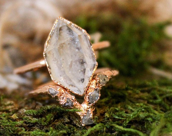 Luxuriously Rustic Jewelry by thefoxandstone on Etsy
