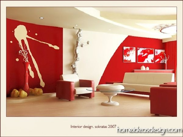 the red and white walls   every room in the house !   pinterest