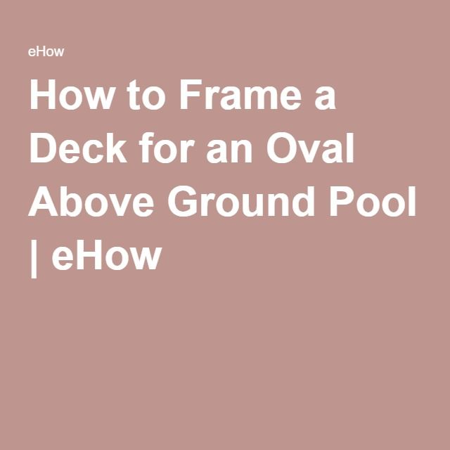 1000 ideas about oval above ground pools on pinterest for Above ground pool decks tulsa