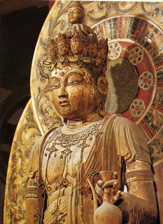 Japanese National Treasure, Statue of Eleven-faced #Kannon Bosatsu 十一面観音菩薩(室生寺)