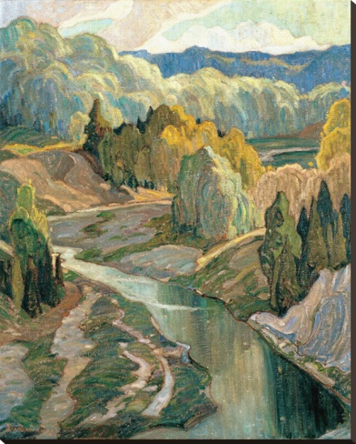 Franklin Carmichael ~ The Valley, c.1921