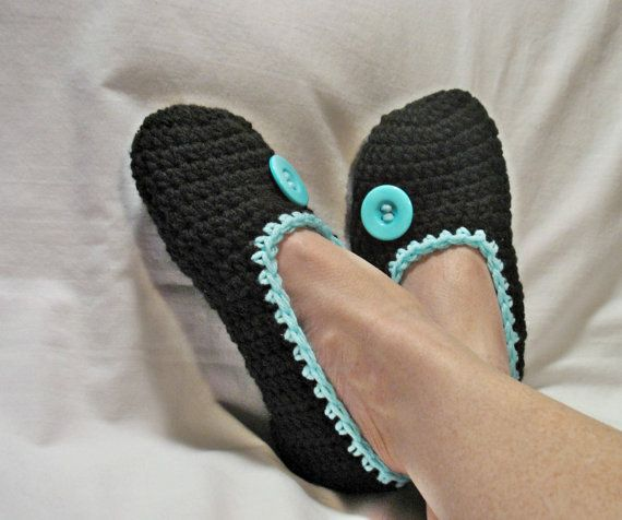 Womans Crochet Slippers Mothers Day Teen Girl by DeesCozyCreations