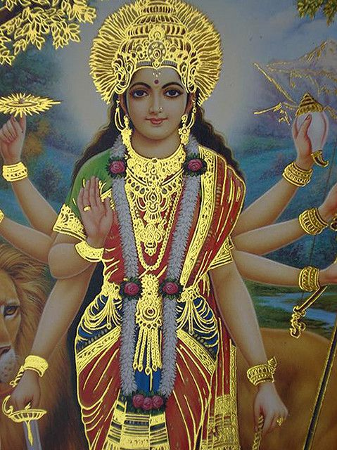 Durga Maa, the god who became a goddess to become fiercer, then became Kali Ma when more fierceness was needed still.