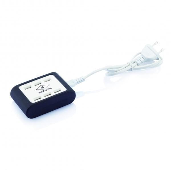 Découvrez ce chargeur USB avec 6 ports USB et LED intégrés, facile d'utilisation avec une protection en silicone antidérapant. #usb #chargeur #charge #charger
