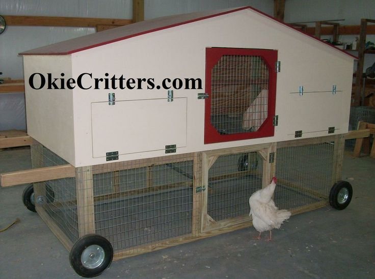 Portable chicken coops on wheels plans portable chicken for Portable chicken coop on wheels