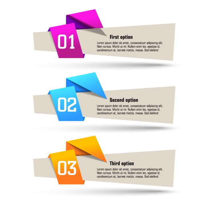 Origami Banner Design Vector