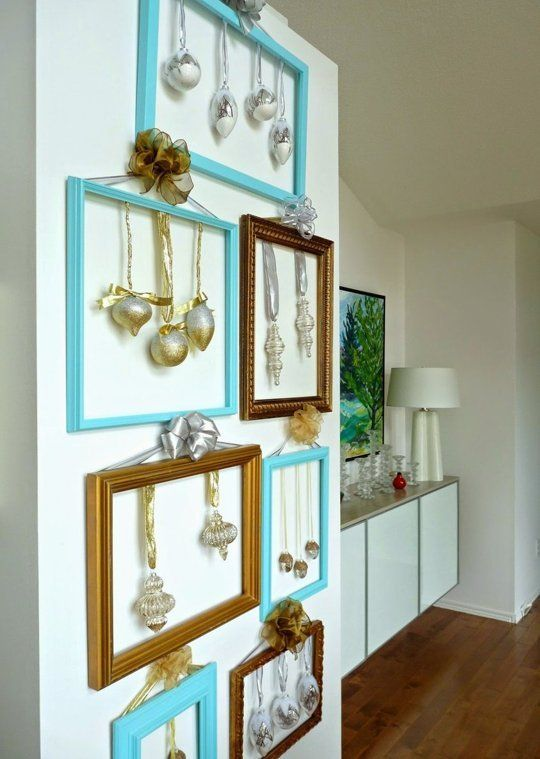 Discreta y moderna decoracin navidea