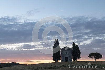 Vitaleta chapel in Val Orcia Toscana