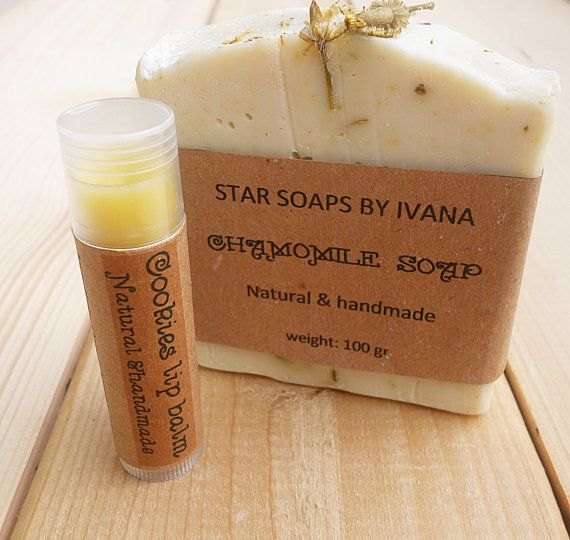 Soap Set  Soap Gift Set  Unscented Chamomile by StarSoapsbyIvana