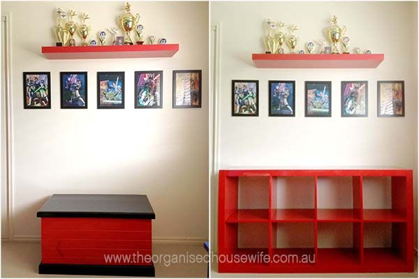Lego storage and organising ideas for a boys bedroom
