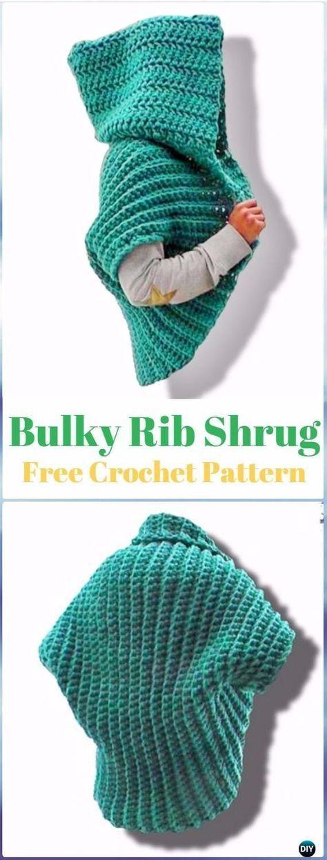 Crochet Ribbed Shrug Free Pattern Video - Crochet Women Shrug Cardigan Free Pattern