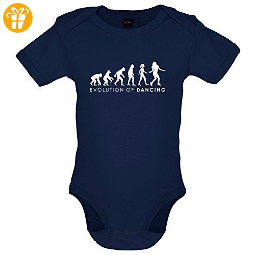 Evolution of Woman - Tanzen - Lustiger Baby-Body - Marineblau - 3 bis 6 Monate - Baby bodys baby einteiler baby stampler (*Partner-Link)