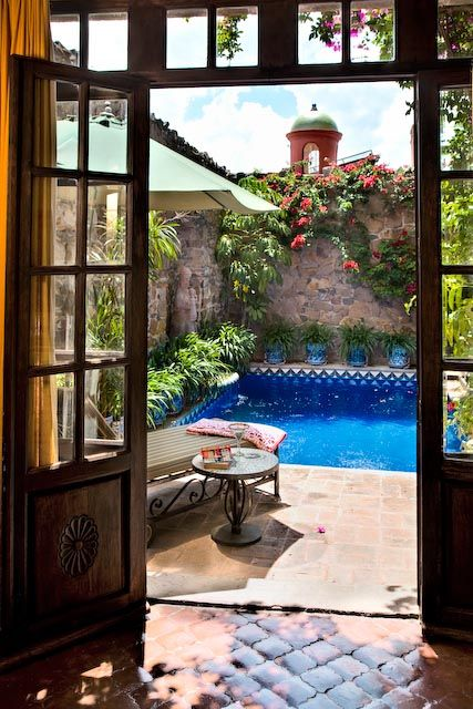 Love the Saltillo tiles that have an almost spanish colonial shape instead of being sqaure. | jkawaters